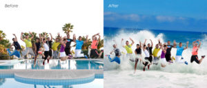 Photo Masking before after